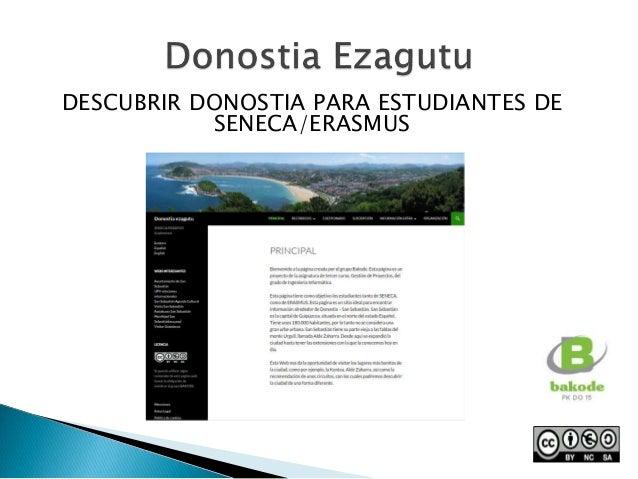 DESCUBRIR DONOSTIA PARA ESTUDIANTES DE SENECA/ERASMUS