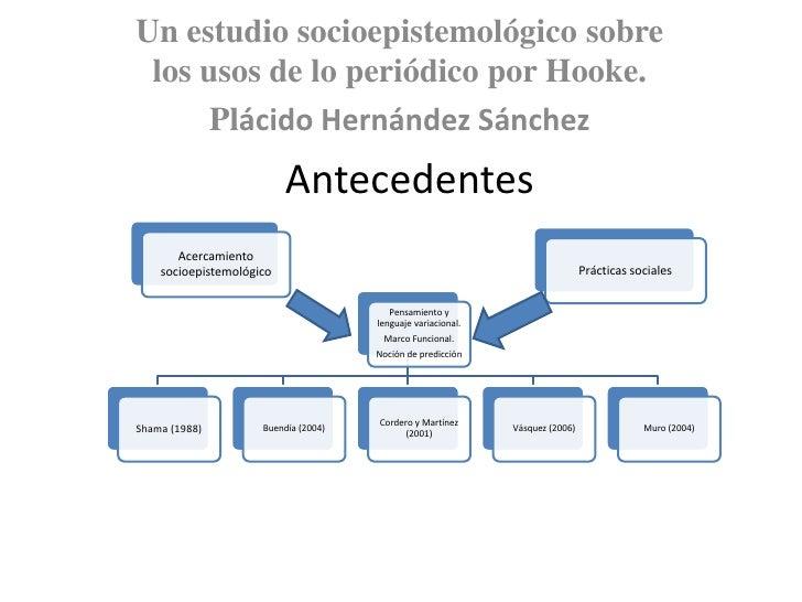 Un estudio socioepistemológico sobre los usos de lo periódico por Hooke.<br />Plácido Hernández Sánchez<br />Antecedentes<...