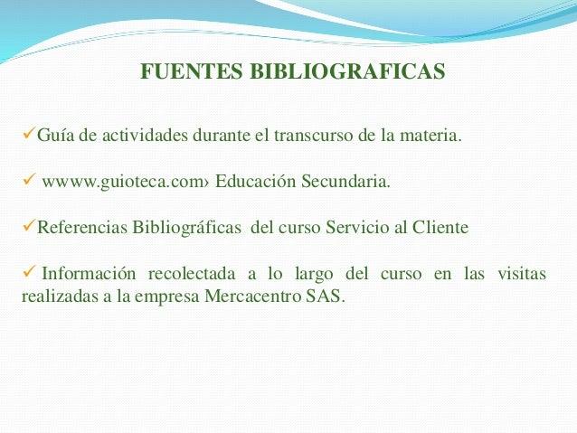 Citas bibliograficas de servicio al cliente