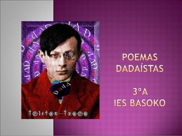 Presentación poemas dadá