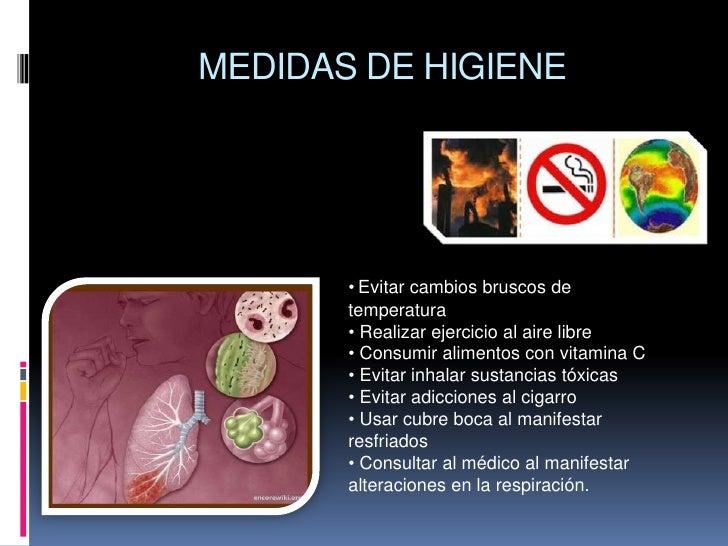 Higiene Del Sistema Respiratorio: Aparato Respiratorio
