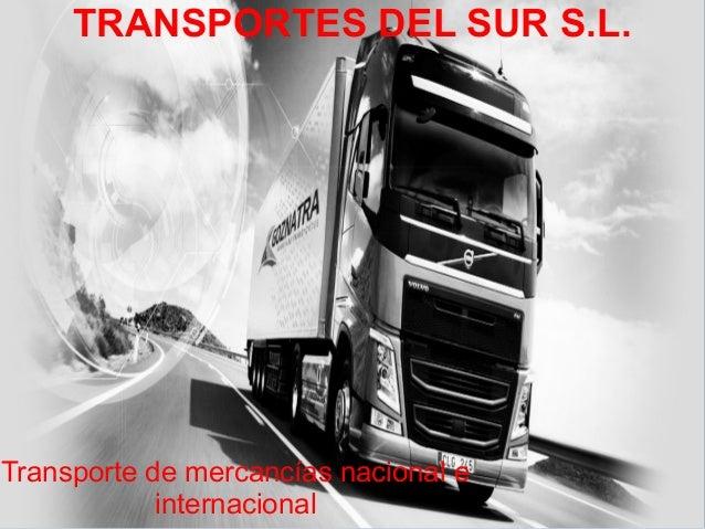 TRANSPORTES DEL SUR S.L. Transporte de mercancías nacional e internacional