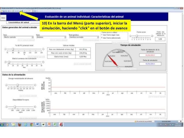 """10) En la barra del Menú (parte superior), iniciar la simulación, haciendo """"click"""" en el botón de avance"""