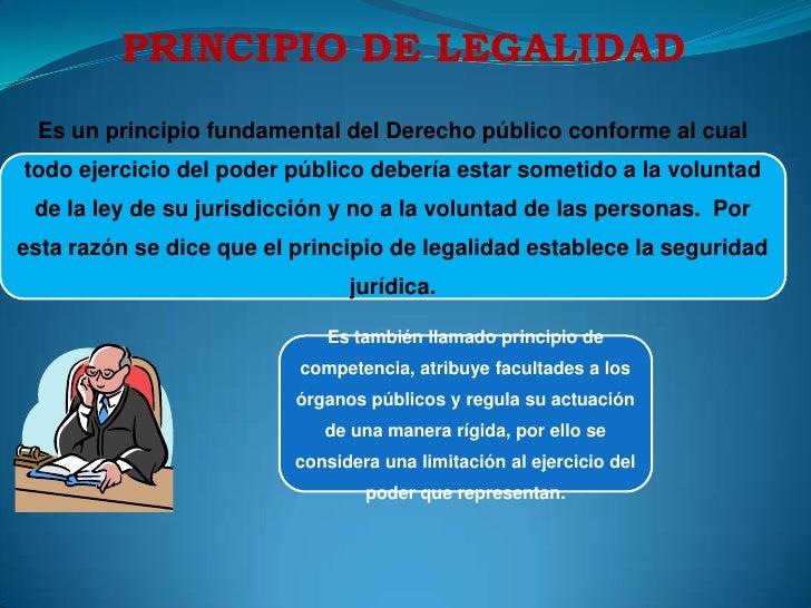 PRINCIPIO DE LEGALIDAD<br />