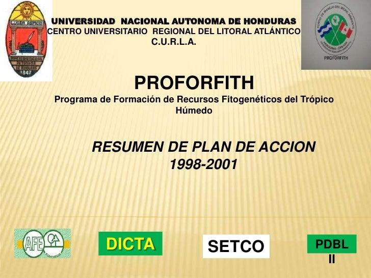 UNIVERSIDAD  NACIONAL AUTONOMA DE HONDURAS<br />CENTRO UNIVERSITARIO  REGIONAL DEL LITORAL ATLÁNTICO<br />C.U.R.L.A.<br />...
