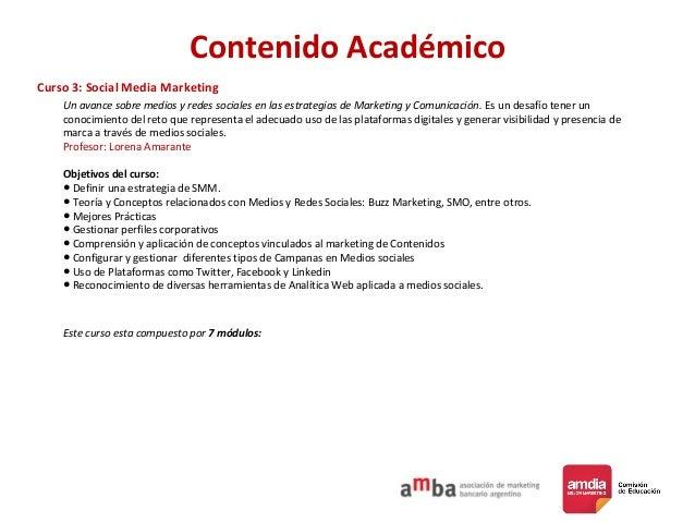 Contenido Académico Curso 3: Social Media Marketing Un avance sobre medios y redes sociales en las estrategias de Marketin...