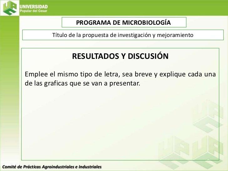 Plantilla de Presentación Propuestas de Investigacion y Mejoramiento …