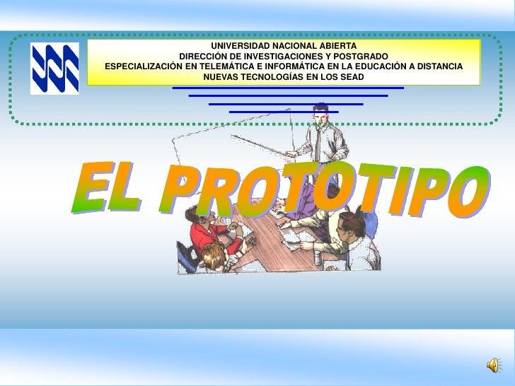 UNIVERSIDAD NACIONAL ABIERTA               DIRECCIÓN DE INVESTIGACIONES Y POSTGRADO ESPECIALIZACIÓN EN TELEMÁTICA E INFORM...