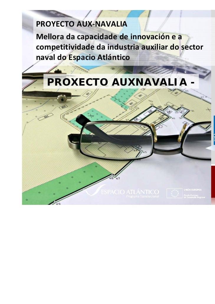 PROYECTOAUX‐NAVALIAMellora dacapacidade deinnovacióneacompetitividade daindustriaauxiliardosectornavaldoEspac...