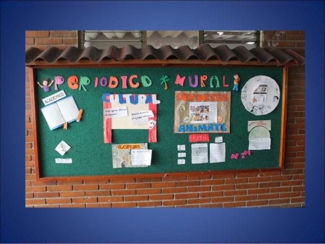 Presentaci n proyecto boletin y mural for Componentes de un periodico mural