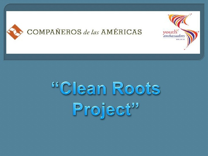 """Clean Roots Project""<br />"