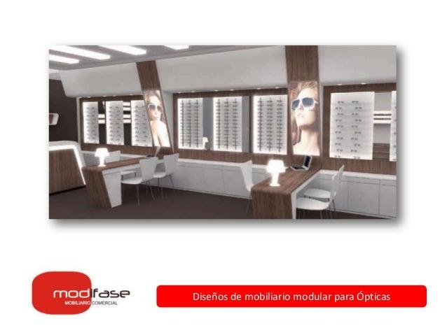 diseos de mobiliario modular para pticas - Diseos Modulares