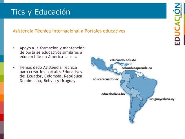 Difusión de buenas prácticas • El Área de Educación de Fundación Chile busca contribuir a difundir buenas prácticas docent...