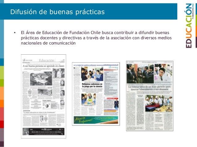 Difusión de buenas prácticas • Desarrollo de encuentros y seminarios nacionales e internacionales en nuestras áreas de esp...