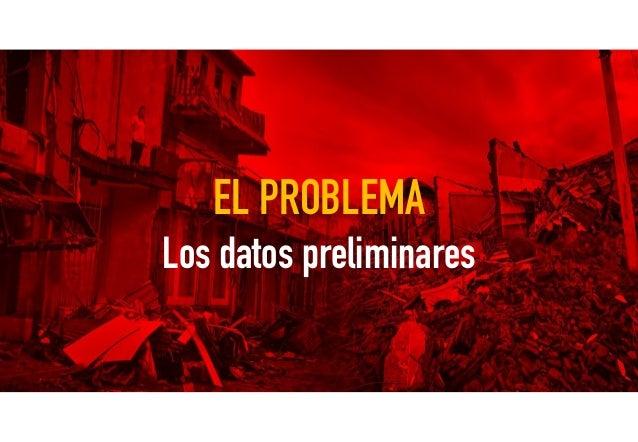 EL PROBLEMA Los datos preliminares