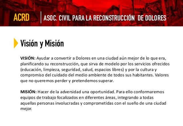 Organigrama por áreas COMITÉ DE RECONSTRUCCIÓN DE DOLORES Comité de Reconstrucción de DoloresASOC. CIVIL PARA LA RECONSTRU...