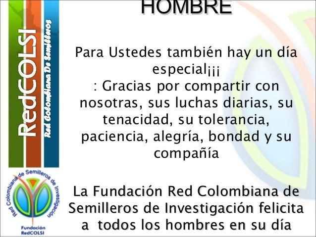 Tarjeta Del Día Del Hombre Fundación Redcolsi