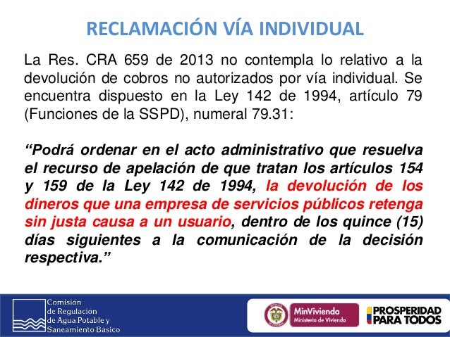 2do Congreso Territorial de Servicios Públicos y Tics- CRA- Resolución CRA 659 de 2013 'Por la cual se modifica la Resolución CRA 294 de 2004 y se dictan otras disposiciones. Slide 2