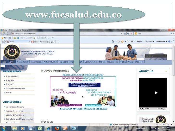 www.fucsalud.edu.co