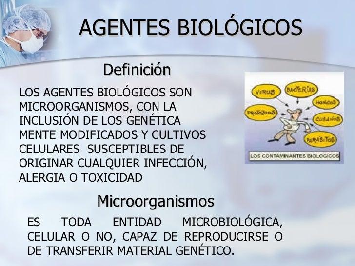 Presentaci n riesgo biologico for Cuales son las caracteristicas de la oficina