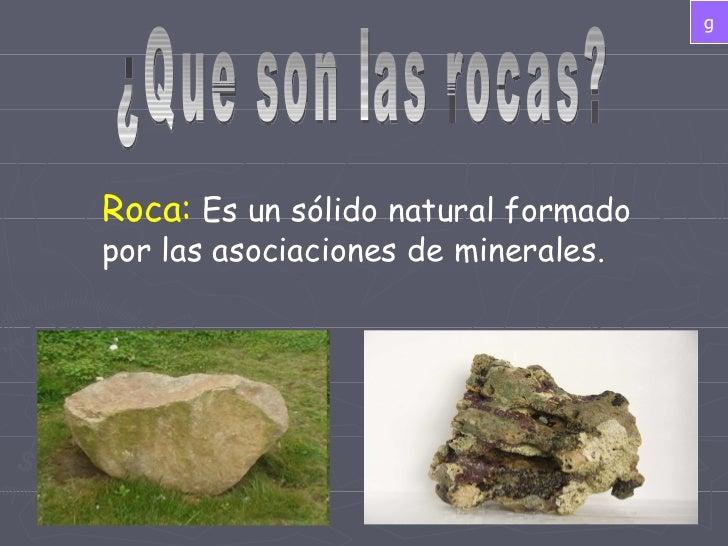 Presentación rocas y minerales Slide 2