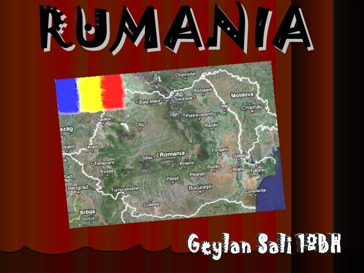 RUMANIA   Geylan Sali 1ºBH