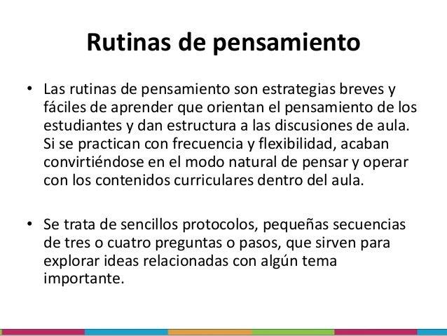 Rutinas y competencias RUTINAS COMPETENCIAS Comprensión: rutinas para ayudar a los estudiantes a desarrollar una mayor con...