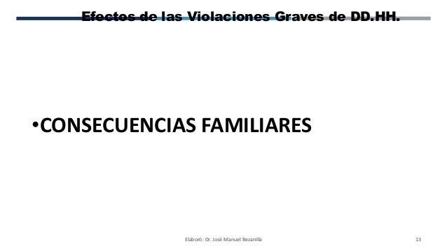Secuelas de las violaciones a derechos humanos 21 01-2017