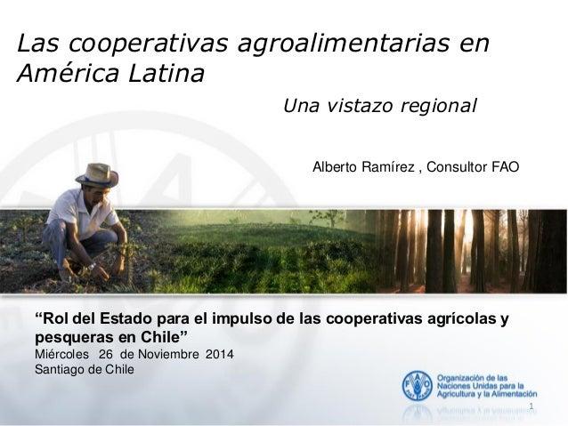 """Las cooperativas agroalimentarias en América Latina Una vistazo regional """"Rol del Estado para el impulso de las cooperativ..."""