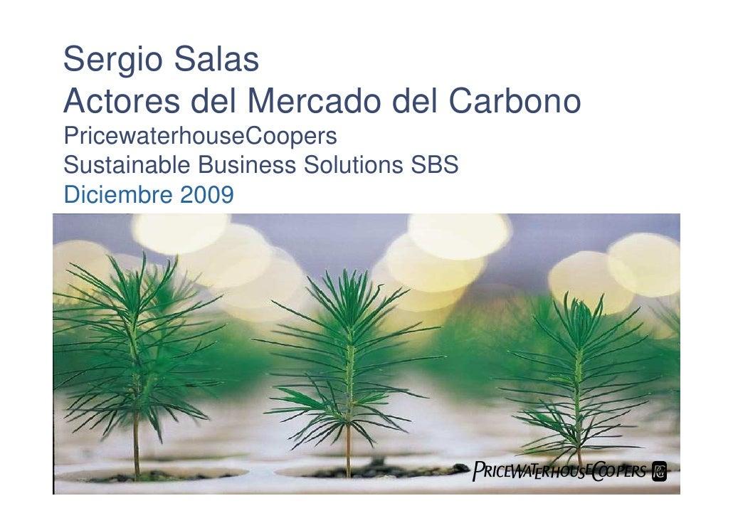 Sergio Salas Actores del Mercado del Carbono PricewaterhouseCoopers Sustainable Business Solutions SBS Diciembre 2009     ...