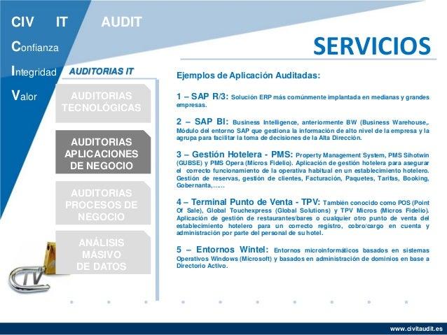 Presentaci 243 N Comercial Civ It Audit Catalogo De Servicios