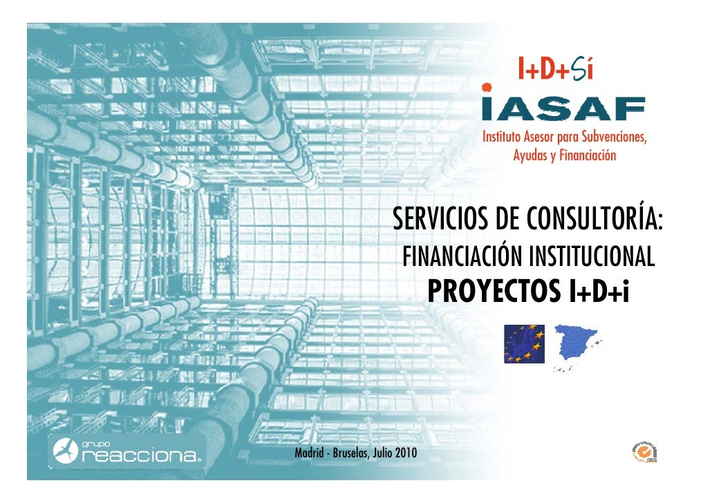 Financiación instucional proyectos I+D+I