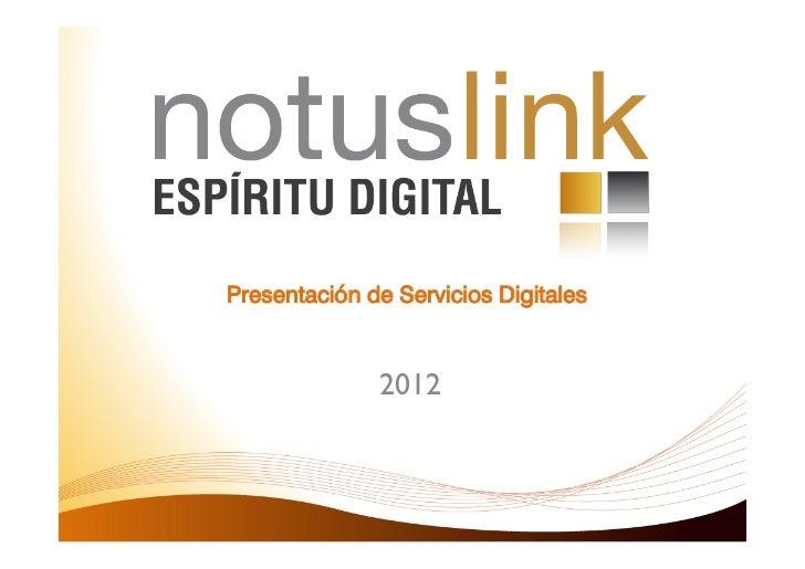 Presentación de Servicios Digitales              2012