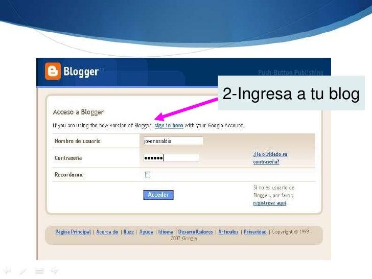 2-Ingresa a tu blog<br />
