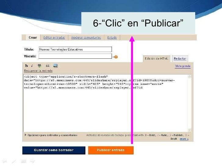 """6-""""Clic"""" en """"Publicar""""<br />"""