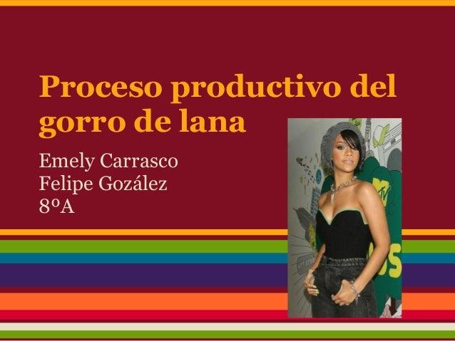 Proceso productivo delgorro de lanaEmely CarrascoFelipe Gozález8ºA