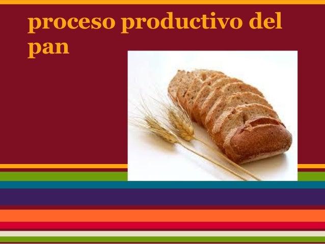 proceso productivo delpan