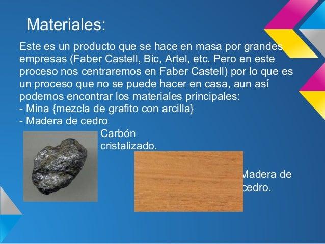 Proceso tecnol gico del l piz for De donde se saca el marmol