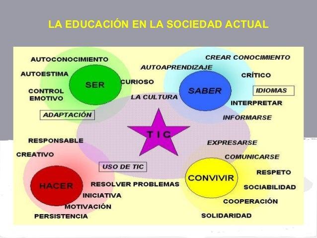 LA EDUCACIÓN EN LA SOCIEDAD ACTUAL