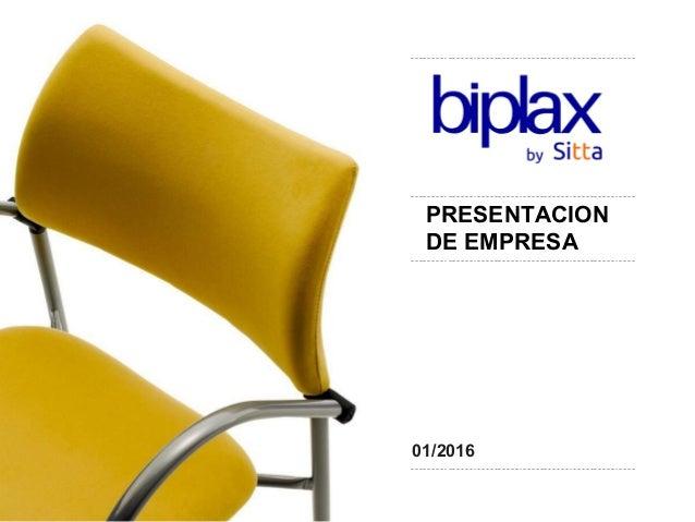 01/2016 PRESENTACION DE EMPRESA