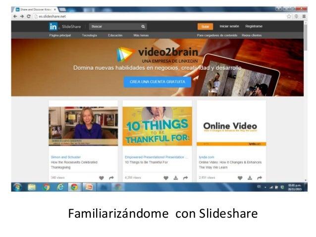 Familiarizándome con Slideshare