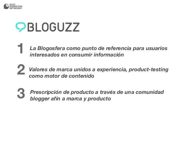 1   La Blogosfera como punto de referencia para usuarios    interesados en consumir información2   Valores de marca unidos...
