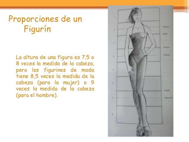 Proporciones de un    Figurín La altura de una figura es 7,5 o 8 veces la medida de la cabeza, pero los figurines de moda ...