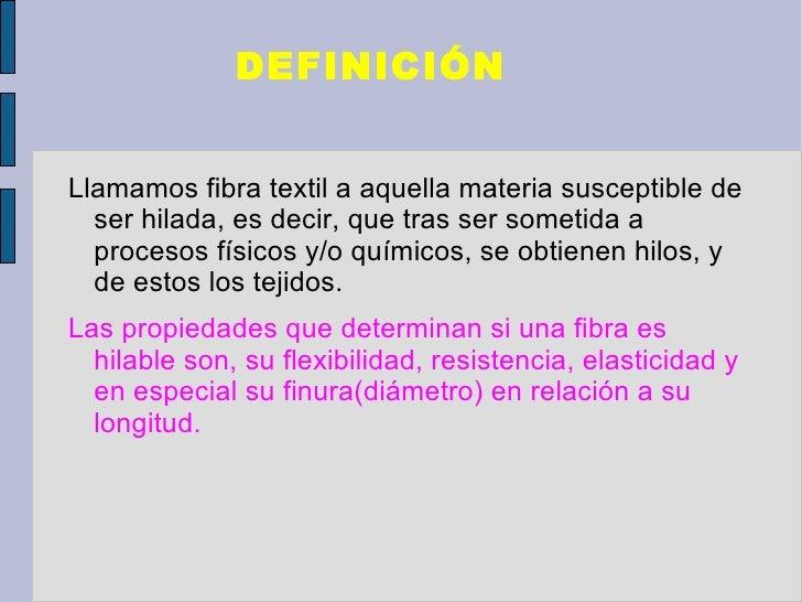 Fibras textiles Slide 2