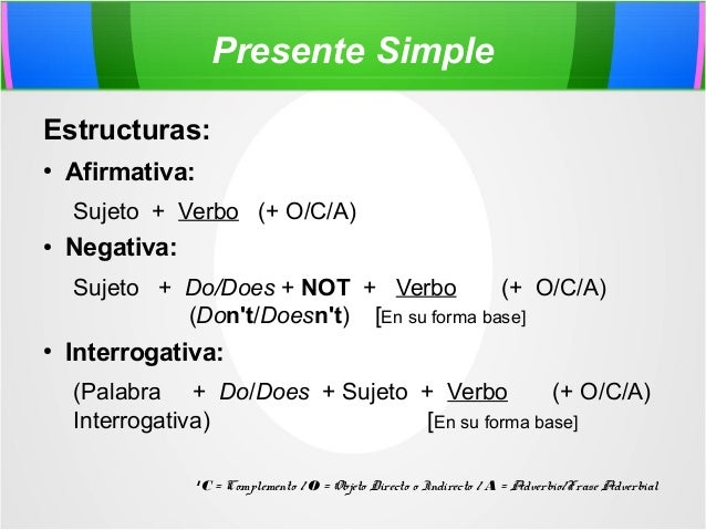 Presente Simple Presente Progresivo By Paul Rodriguez