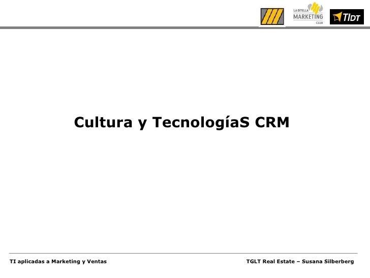 Cultura y TecnologíaS CRM