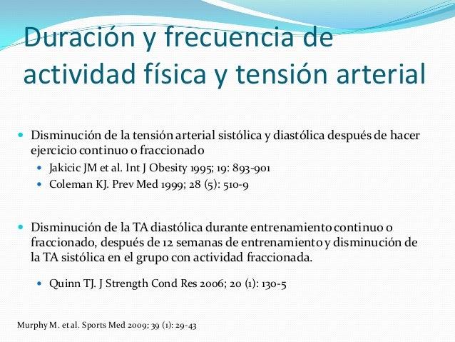 presion arterial diastolica y sistolica durante el ejercicio