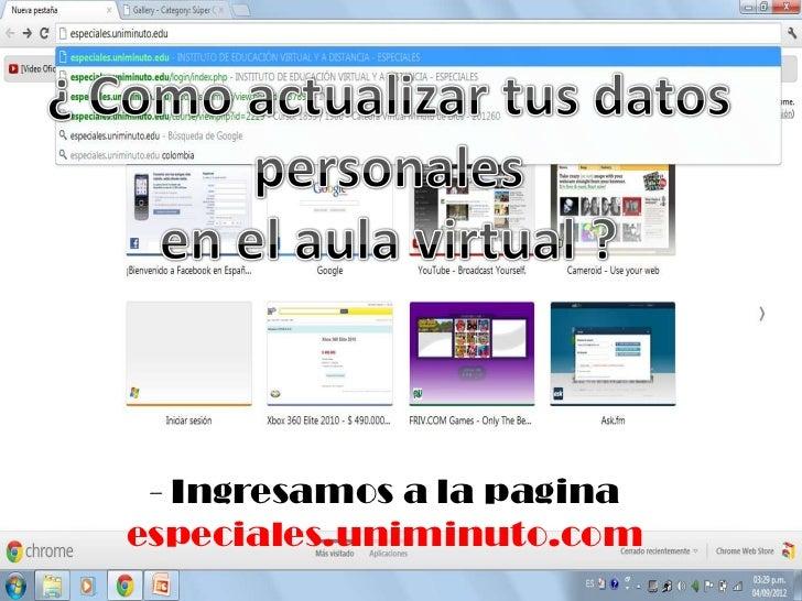 Manejo de aula virtual foros y Google docs Slide 2