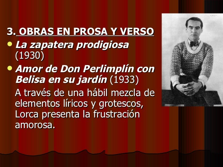 Presentaci n teatro anterior a 1936 for Amor de don perlimplin con belisa en su jardin