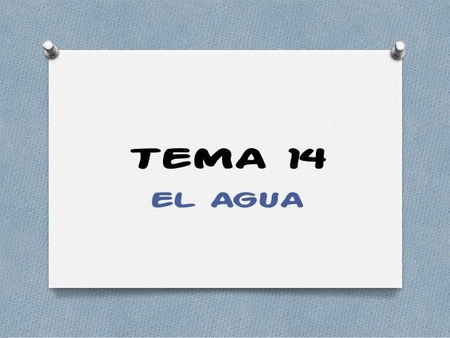TEMA 14 EL AGUA